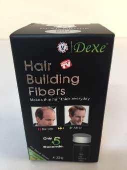 โปรโมชั่น [สีดำ] Dexe Hair Building Fiber ผงไฟเบอร์เพิ่มผมหนา ปิดผมบาง ขนาด 22 กรัม