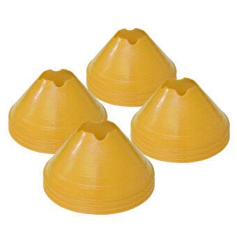ดีสเทรนเนอร์โคน กรวยซ้อมบอล กรวยฝึกซ้อม มาร์กเกอร์โคน สีเหลือง ชุดละ 12 ชิ้น
