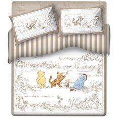 Disney ชุดเครื่องนอนเตียงคู่ 4 ชิ้น รุ่น Yt61685 ลาย Classic Pooh เป็นต้นฉบับ