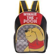 ขาย ซื้อ Disney Winnie The Pooh กระเป๋าเป้ กระเป๋านักเรียนสะพายหลัง สีดำคาดเหลือง ใน Thailand