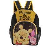 ขาย Disney Winnie The Pooh กระเป๋าเป้ กระเป๋านักเรียนสะพายหลัง สีดำคาดเหลือง Winnie And The Pooh