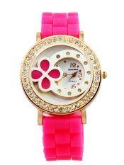 ราคา Dm นาฬิกาข้อมือผู้หญิง สายยาง สีชมพู