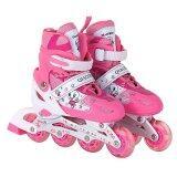 โปรโมชั่น Dmall เล่นสเก็ตลูกกลิ้ง รองเท้า Children Pro Roller Style Inline Skate Outdoor Sport Shoes Size S 27 32 Pink ถูก