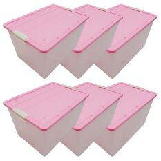 ซื้อ Dmt กล่องอเนกประสงค์ มีล้อ 56ลิตร สีชมพู จำนวน 6ใบ ใน ไทย
