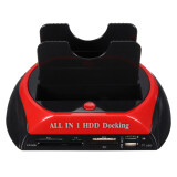 ขาย ซื้อ Docking All In 1 2 5 3 5 Dual Usb 2 Sata Sata Hdd Dock Station Hub Card Reader Black