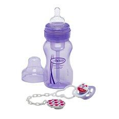 Dr Brown S Drbwb915 ขวดนมพร้อมจุกหลอก Wide Neck Bottle Soother Gift Set Purple ถูก