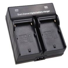 Dual Channel Battery Charger for SONY NP-F970 F750 F960 QM91D FM50 FM500H FM55H Battery