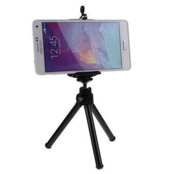 E-CHEN ขาตั้งกล้อง 3 ขา สำหรับมือถือ และกล้องดิจิตอลขนาดเล็ก (สีดำ)