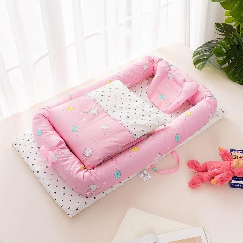 เตียงเด็กทารกเตียงเด็กทารกสามารถถอดซักได้ 0-1 ปี Bb เลียนแบบมดลูกเดินทางความดันทำแบบตัวจริงเตียงมัลติฟังก์ชั่นสามารถพับได้เตียง By Taobao Collection.