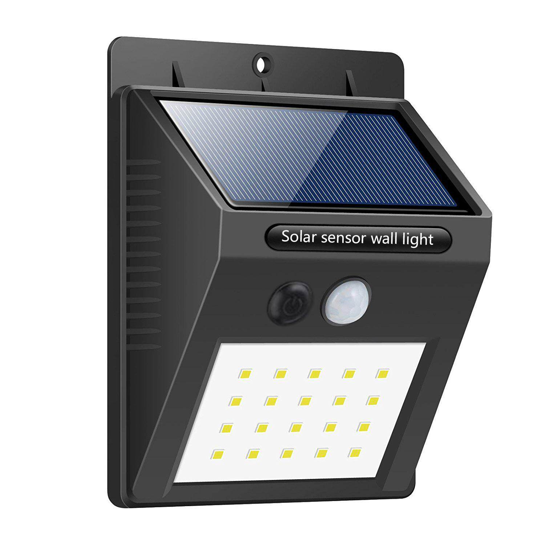 4Pack Outdoor Solar Lights Motion Sensor Wall Waterproof Garden Yard Lamp 20 LED