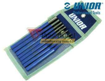UNIOR ( 641/6PB ) เหล็กส่ง ขนาน ชุด ในซองพลาสติก 5 ตัวชุด ขนาด 2-6 mm. (1 ชุด)