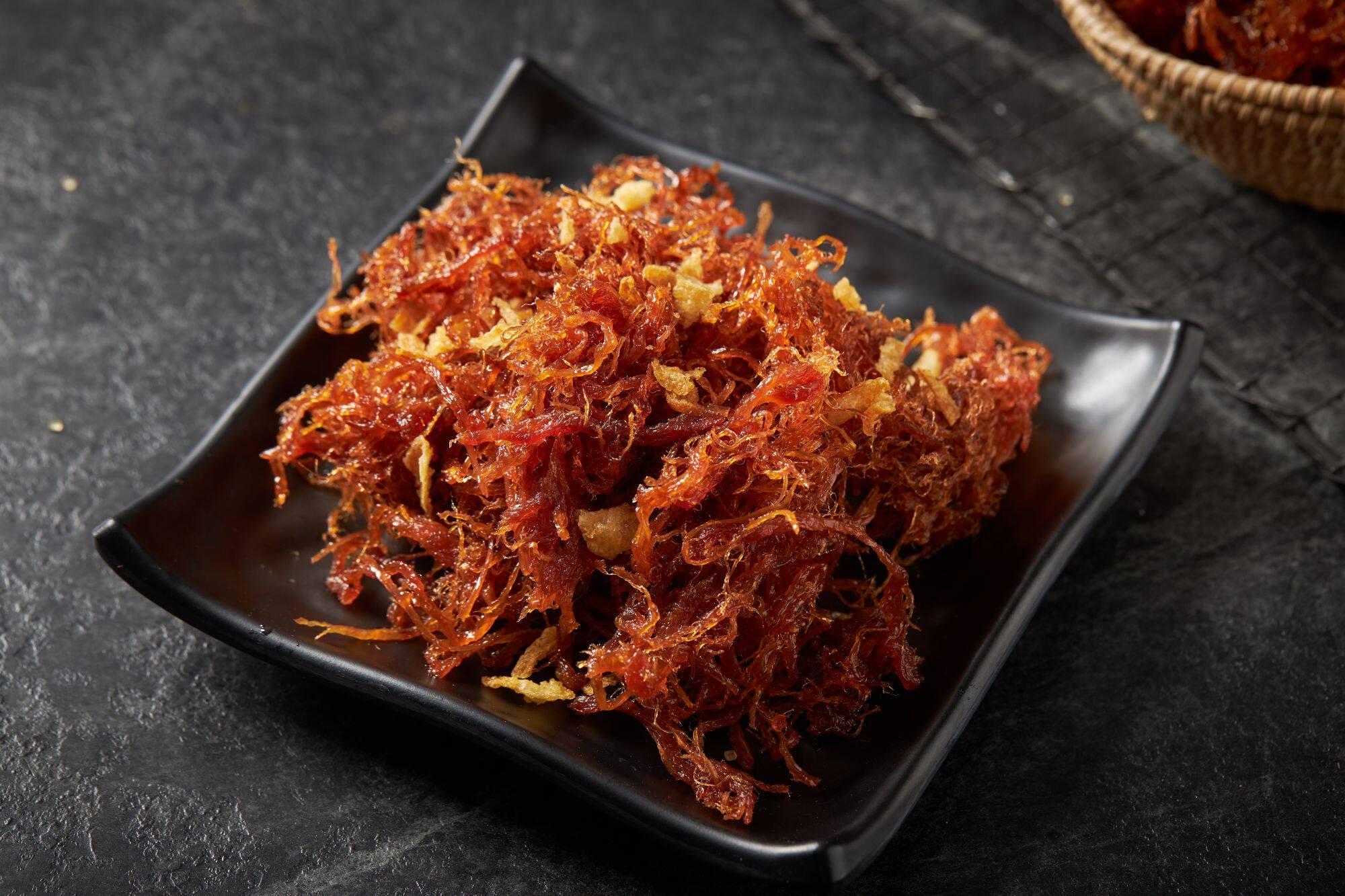 รีวิว เนื้อฝอยฉ่ำ ฮาลาล สูตรโบราณ หอมหวาน ร้านคุณแอ๊ด มุสลิม น้ำหนัก 300 กรัม ราคา 280 บาท