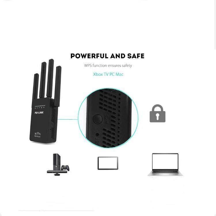 ตัวรับสัญญาณ Wifi Pix-Link Pix-Link Lv-Wr09 บ้าน Mini Ac 1200m Bps Wireless Wifi Router ช่วงสัญญาณ Extender 4 ภายนอกเสาอากาศ 21 คะแนนคำถาม 11 ได้รับการตอบ.
