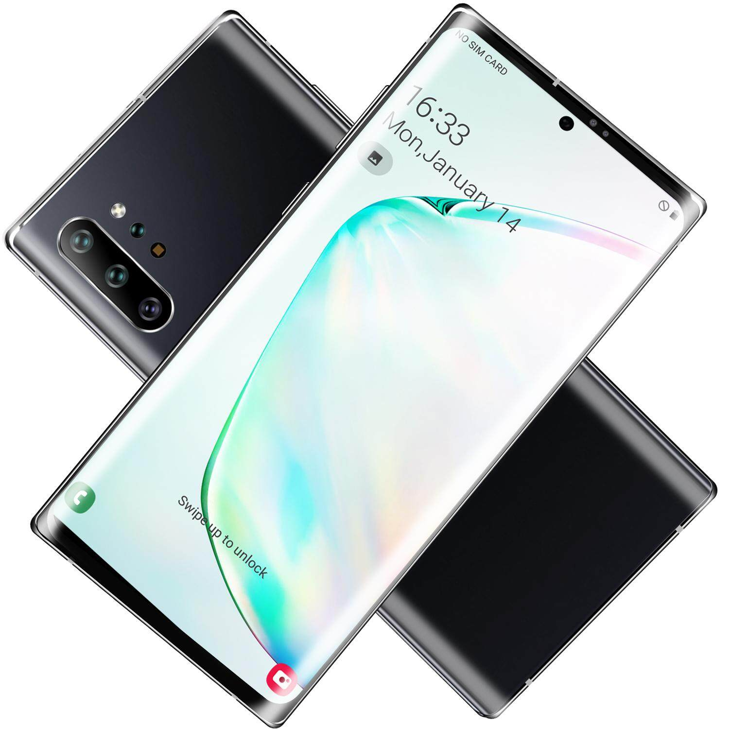 Note10 + Smart Gaming Phone Special Price Facial Dual Unlock 6g + 128g Dual Sim Card Android 9.0 System 10 Core Processor.