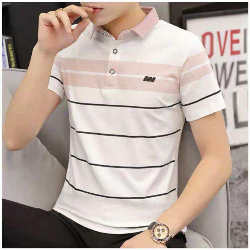 Men Lapel T -Shirts Polo Shierts Mens Shoet Sleeve Trend Summer Sports Clothes Good Qulity Cheaper Pricer.