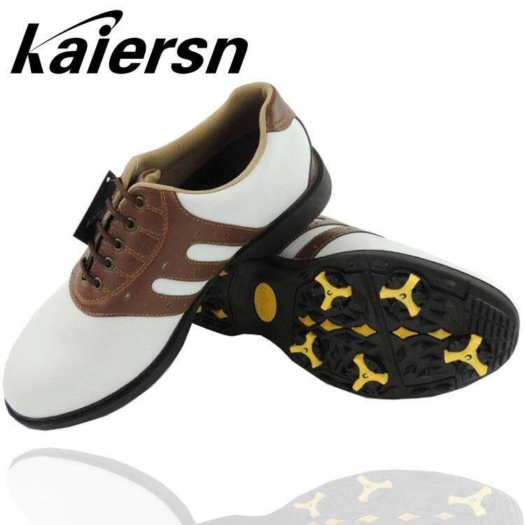ของแท้ Kaiersn รองเท้ากอล์ฟรองเท้าผู้ชาย Golf รองเท้าสนึกเกอร์กิจกรรมเล็บกันลื่นทนทานการเสียดสีส่งประแจ By Taobao Collection.
