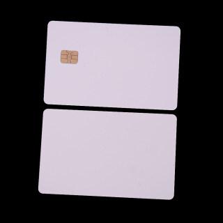 Sporter 5 Cái IC ISO PVC Mới Với SLE4442 Chip Trống, Thẻ Thông Minh, Liên Hệ Với IC Thẻ An Toàn Trắng thumbnail