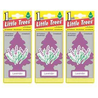 Little Trees® แผ่นน้ำหอมปรับอากาศ รูปต้นไม้ กลิ่น Lavender จำนวน 3 ชิ้น-