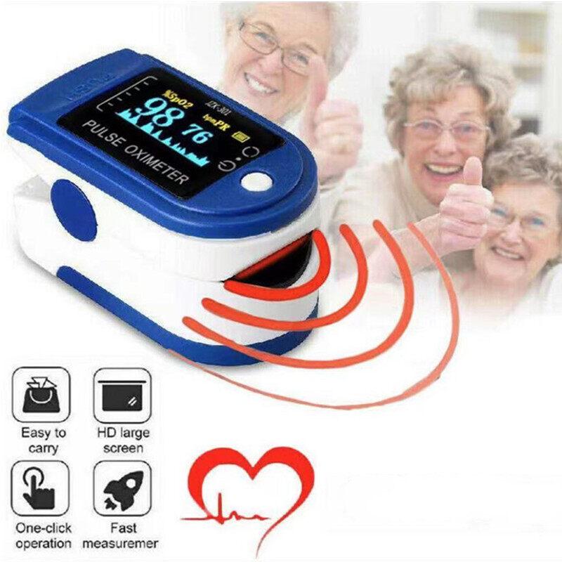 เครื่องวัด Oxygen เครื่องวัดออกซิเจนในเลือด วัดออกซิเจน วัดชีพจร เครื่องวัดออกซิเจนปลายนิ้ว วัดอัตราการเต้นหัวใจ Fingertip Pulse Oximeter เครื่องวัดออกซิเจนที่ปลายนิ้ว มีการรับประกัน.