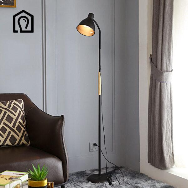 Bảng giá IHB042 Đèn sàn phòng khách tối giản kiểu Mỹ đèn chiếu sáng tạo kiểu Bắc Âu màu đỏ đầu giường phòng ngủ nghiên cứu đèn sàn phòng ngủ