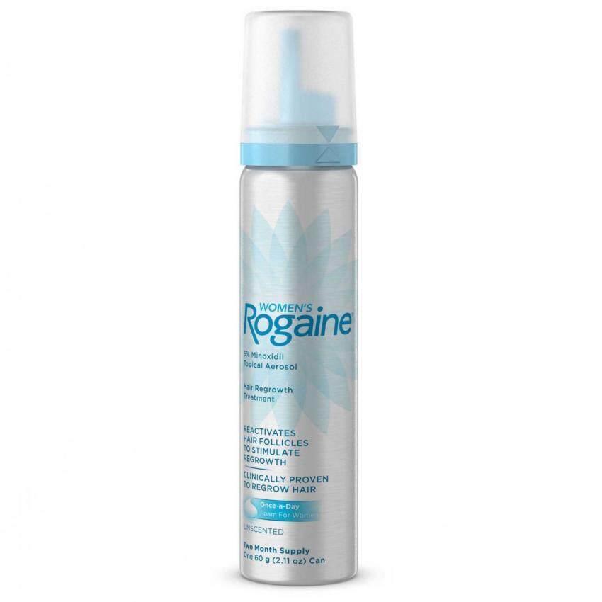 Rogaine ยาปูลกผมผู้หญิง Rogaine Foam 5% ไมนอกซิดิล (1 ขวด สำหรับ 2 เดือน  ไม่มีกล่อง) Usa แท้.