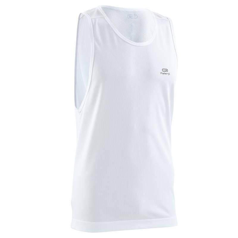 เสื้อกล้ามใส่วิ่งสำหรับผู้ชายรุ่น Run Dry (สีขาว) By Pank19.