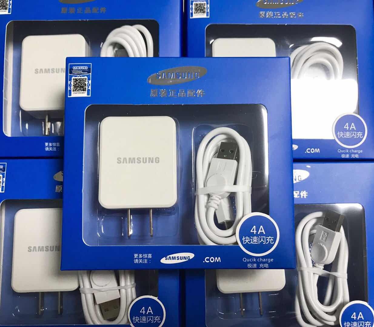 สายชาร์จ Samsung แท้100%1m +หัวชาร์จ5v2aชุดชาร์จเร็วรองรับทุกรุ่น Samsung Orginal。.