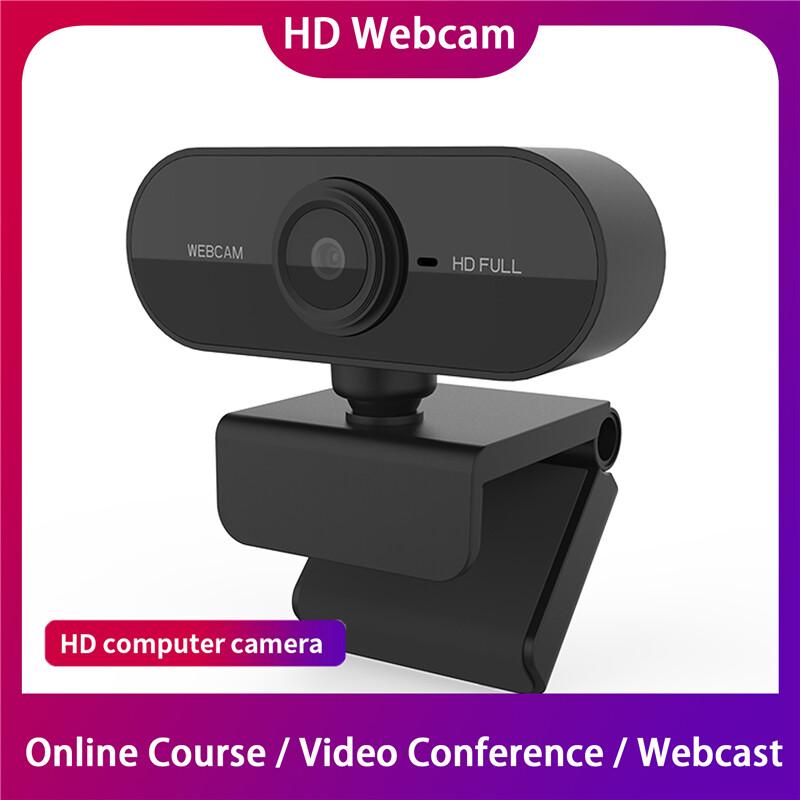 (สต็อกประเทศไทย) (การจัดส่งที่รวดเร็ว)janruj 1080p Webcam Hd Web Camera Video Chat Recording Camera Usb Built With Mic For Pc Computer Laptop.