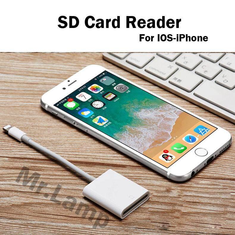 การ์ดรีดเดอร์ Sd & Micro Sd สายต่อคอมพิวเตอร์อะแดปเตอร์สำหรับ Sd Card Reader, Lightning Adapter Cable For Iphone 8 8p X Xs Xsmax 11 11pro 11pro Max Mr.lamp.