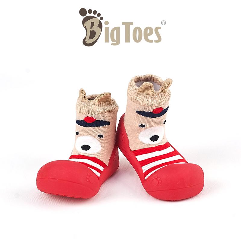 โปรโมชั่น รองเท้าหัดเดิน รองเท้าเด็ก Bigtoes ลาย Cuty Bear Red (สีแดง) รองเท้าเด็กอ่อน