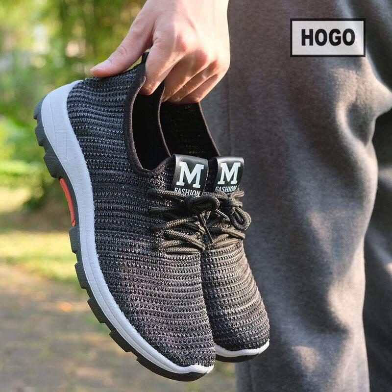 HOGO รองเท้าผ้าใบ รองเท้าผ้าใบผู้ชาย ผ้ายืดใส่ง่าย นิ่ม น้ำหนักเบา ใส่สบายสุดๆ รองเท้าผู้ชาย รองเท้าแฟชั่น พร้อมส่ง