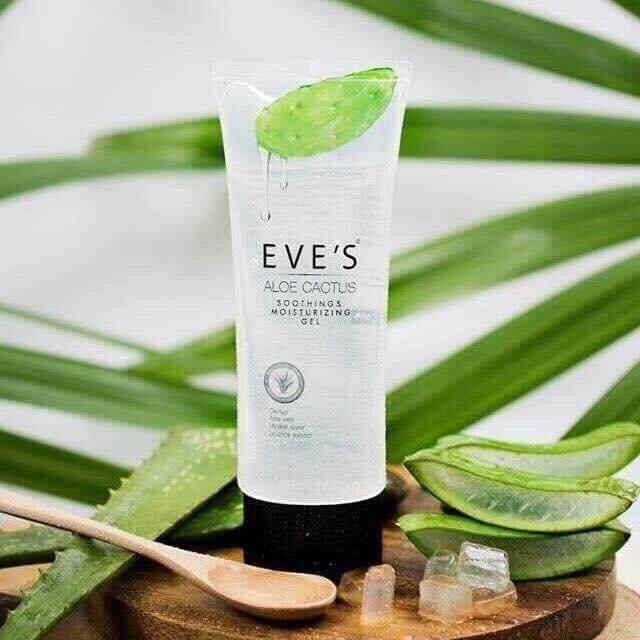 (ส่งฟรี) Eve's Aloe Cactus Soothing Moisturizing Gel อีฟ อโล แคคทัส เจลบำรุงผิว เพิ่มความชุ่มชื้นให้กับผิว บรรจุ 100 ml.