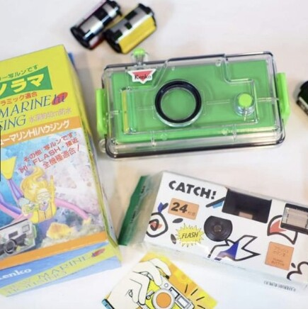 กล้องฟิล์มใช้แล้วทิ้ง พร้อมเคสกันน้ำ งานญี่ปุ่น.
