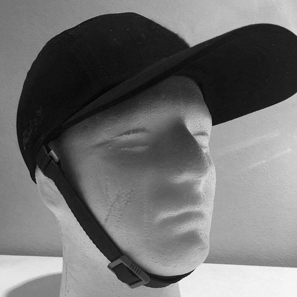 SV หมวกแก๊ปกันกระแทกพร้อมสายรัดคาง-สีดำ