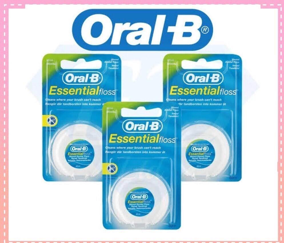 ไหมขัดฟัน Oral B 50เมตร 3 ชิ้น กลิ่นมิ้นท์ ของแท้.