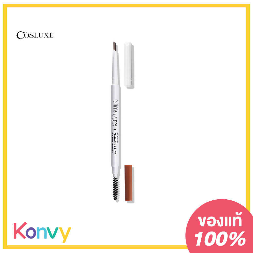 Cosluxe Slimbrow Pencil Triangular Tip 0.05g Mocha.
