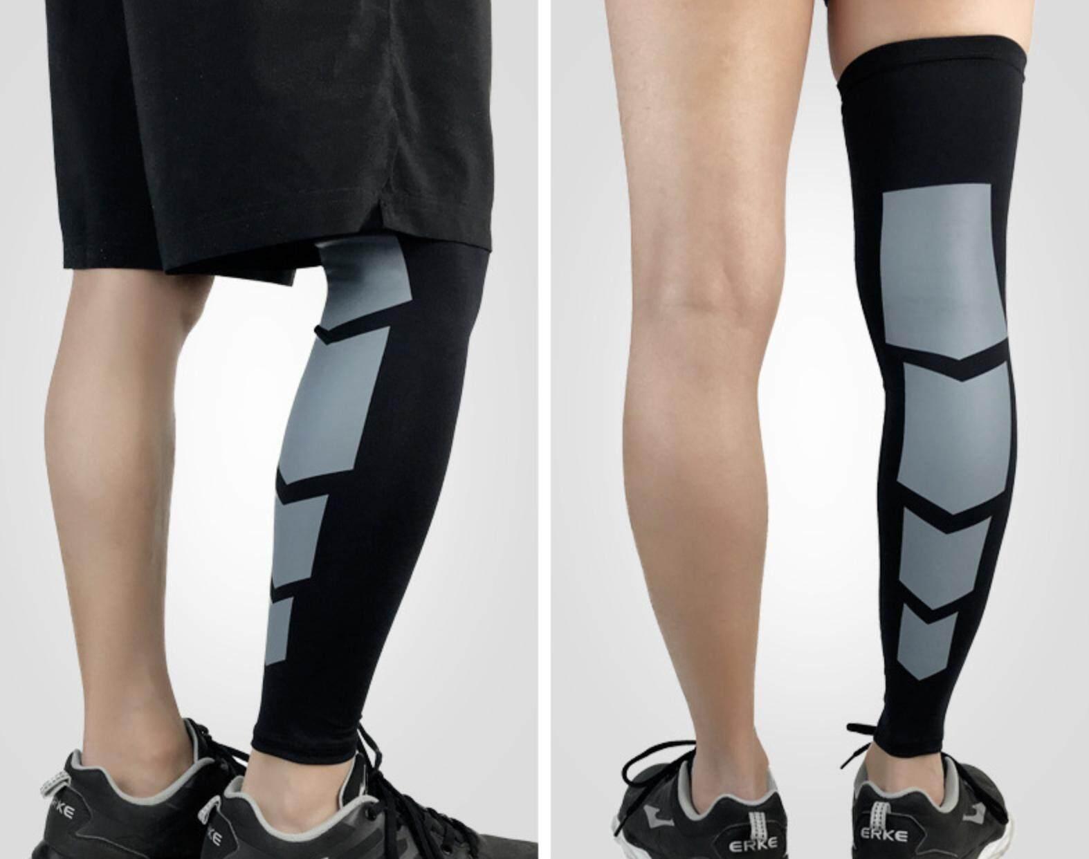 (x2ชิ้น) ปลอกรัดน่อง ปลอกขาแบบยาว ปลอกขาใส่ออกกำลังกาย วิ่ง ปั่นจักรยาน ลดการเมื่อยล้า กระชับกล้ามเนื้อน่อง Elastic Calf Support