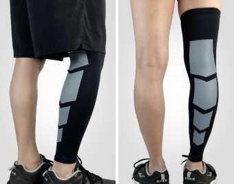 ปลอกรัดน่อง ปลอกขาแบบยาว สวมใส่ออกกำลังกาย ลดการเมื่อยล้า ลดการบาดเจ็บกล้ามเนื้อ Elastic Calf Support (1คู่)-