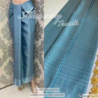 b009 (แพคสินค้าใน 1 วัน) ผ้าไทย ผ้าไหมแพรวา ผ้าไหมสังเคราะห์  ผ้าไหม ผ้าไหมทอลาย ผ้าถุง ผ้าซิ่น ของรับไหว้  ของฝาก ของขวัญ ผ้าตัดชุด ***ผ้าเป็นผ้าผืนยังไม่ตัดเย็บนะคะ** ขนาดผ้า 100*180 cm 2 หลา