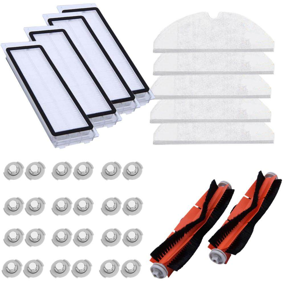 For Xiaomi Roborock Vacuum Cleaner 2 Spare Parts Kits Mop Cloths Dry Wet Mopping Water Tank Filter Water Tank Side Brush?35Pcs?
