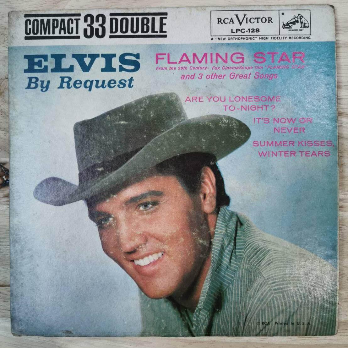 แผ่นเสียง Elvis By Request 7นิ้ว 33 1/3rpm ปกvg+ /แผ่น Vg++ By Oldism111.