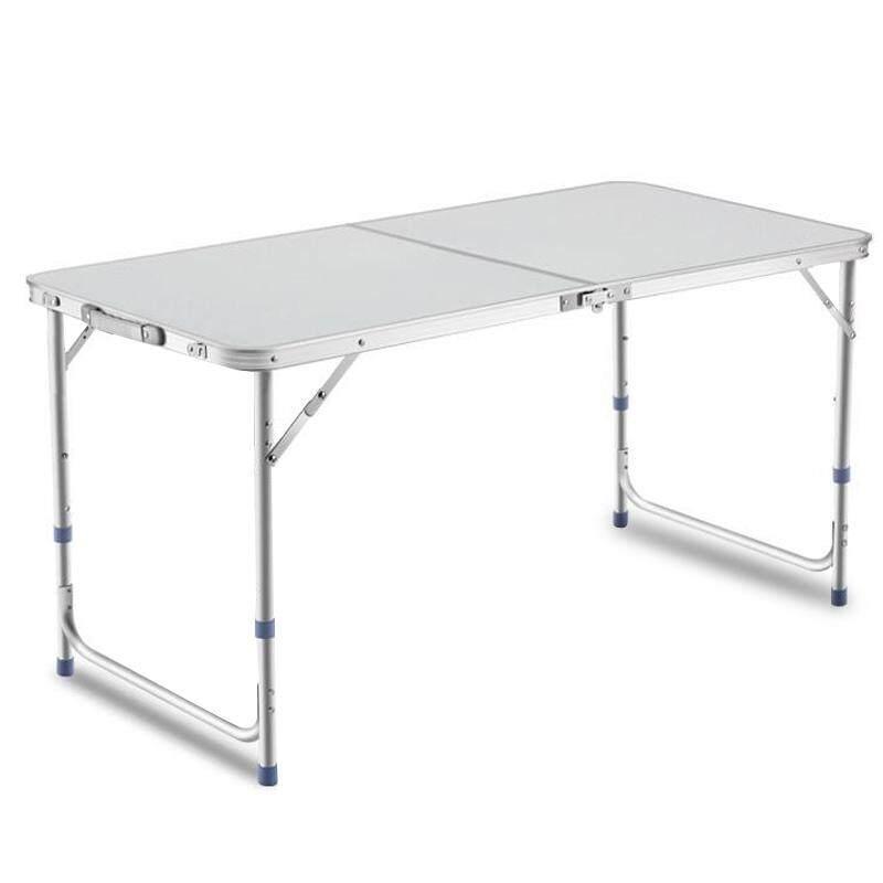 Giocoso โต๊ะปิคนิค โต๊ะสนาม พับได้อลูมิเนียม 120x60x70 แบบกระเป๋าพกพา รุ่น T2 (white) By Giocoso.