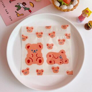 CYR124 Hàn Quốc sáng tạo dễ thương đồ ăn nhẹ túi kín thực phẩm cô gái bánh quy túi kẹo đóng gói túi kẹo túi bảo quản kẹo thumbnail