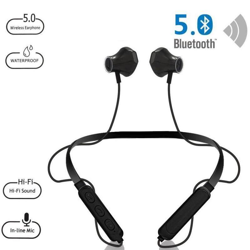 หูฟังหูฟังไร้สาย Bluetooth 5.0 ตัดเสียงรบกวนหูฟัง Sport Ipx4 กันน้ำชุดหูฟังสเตอริโอหูฟังเบสพร้อมไมโครโฟนสำหรับ Xiaomi, Huawei, Vivo, Iphone, Android, Iso.