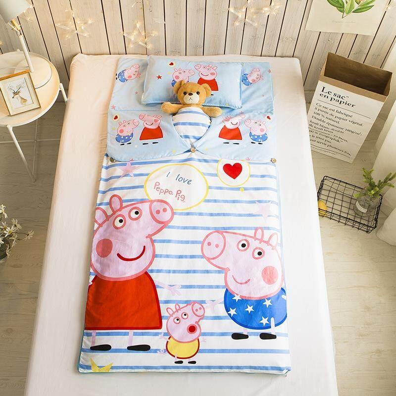 ผ้าฝ้ายร้อยเปอร์เซ็นต์โฟร์ซีซั่นเพิ่มความหนา Petpet ทารกผ้าห่มกันเตะเด็ก Ins เสื้อผ้าแฟชั่น เสื้อผ้าแฟชั่น ฝ้าย100% การ์ตูนโรงเรียนอนุบาลดอกฝ้ายหลักถุงนอนเด็ก By Taobao Collection.