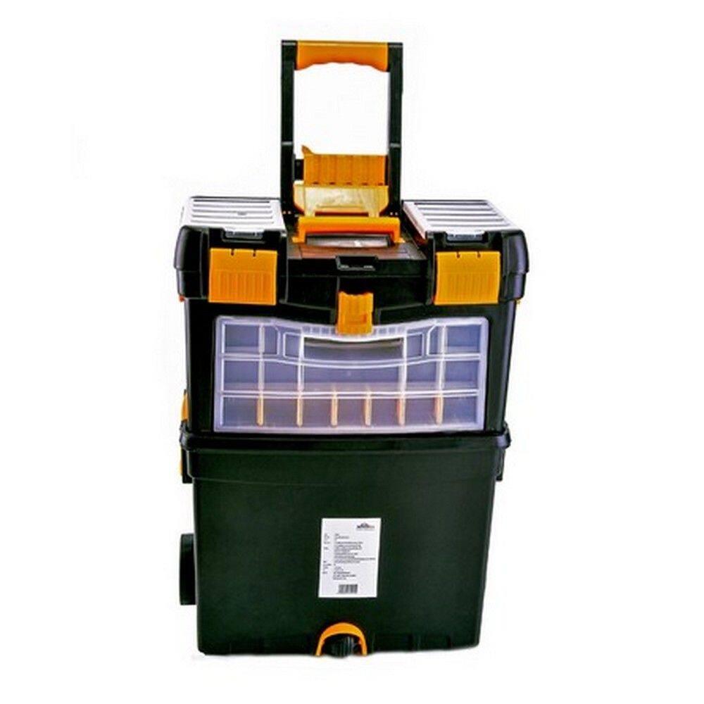 กล่องเครื่องมือ มีล้อ Hualei Hl3042 24 นิ้ว สีดำ-เหลือง.
