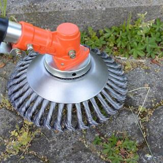 IH 150mm Dây kim loại Máy cắt cỏ Đầu tròn Cạnh cỏ dại Đầu tỉa cỏ Bàn chải loại bỏ lông Bàn chải cỏ Khay cho Máy cắt cỏ 2020 thumbnail