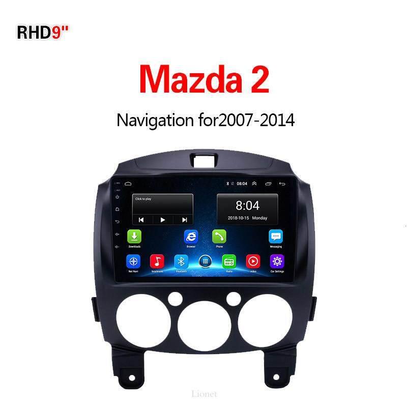 เครื่องนำทาง สำหรับรถยนต์ Mazda 2 2007-2014 9 Inch Android 6.0 4g Net 1g/16g แผนที่ในการนำทาง By Gointer.