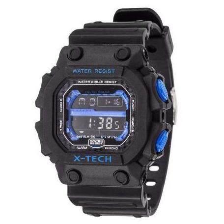 Riches Mall Sport รุ่น X-Tech นาฬิกาดิจิตอล นาฬิกาข้อมือ กันน้ำได้ระดับ 3 Atm นาฬิกาข้อมือดิจิตอล สายเรซิน หน้า Casio ลดราคา สินค้าพร้อมส่ง (มีบริการเก็บเงินปลายทาง) R-145.