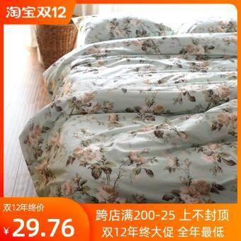 ผ้าปูที่นอนชิ้นเดียวคู่นักเรียนหอพักผ้าปูเตียงแบบผ้าฝ้าย 1.5 เมตร 1.8m2.0 ผ้าปูที่นอนผ้าปูเตียงเตียงเดี่ยวผ้าฝ้ายร้อยเปอร์เซ็นต์